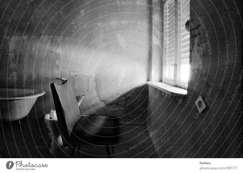 Verlassen a Einsamkeit Traurigkeit Raum Architektur Stuhl Innenarchitektur Lichtschein