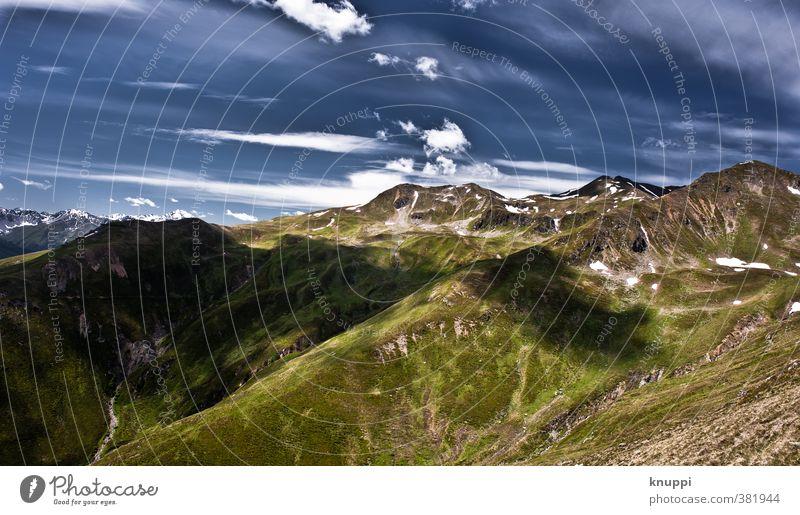Tiejer Flue (Davos) Umwelt Natur Landschaft Urelemente Luft Himmel Wolken Horizont Sonne Sonnenlicht Sommer Klima Klimawandel Schönes Wetter Schnee Alpen