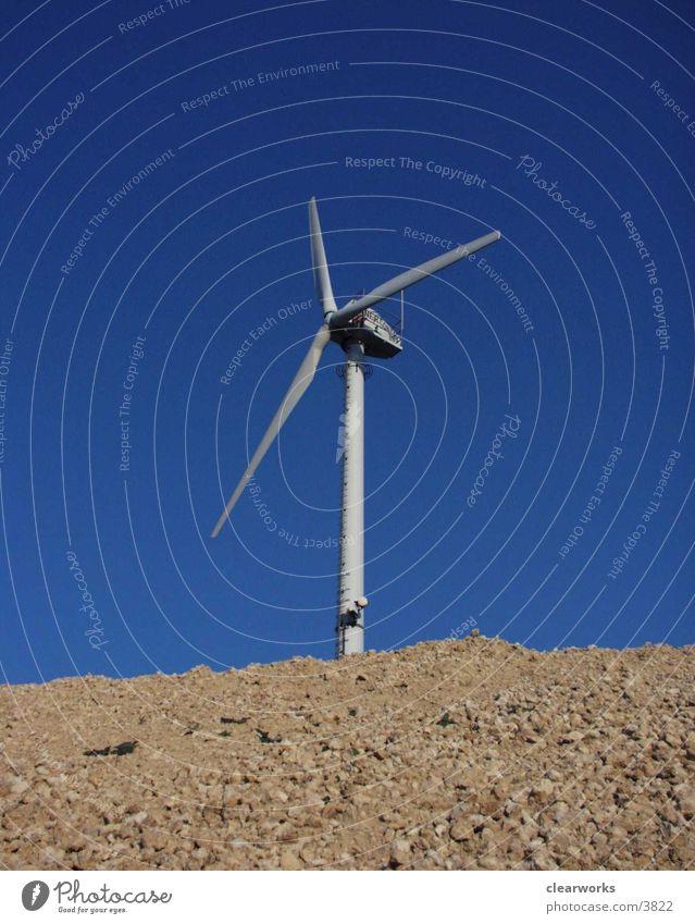 Windrad Elektrisches Gerät Technik & Technologie Natur blau Himmel