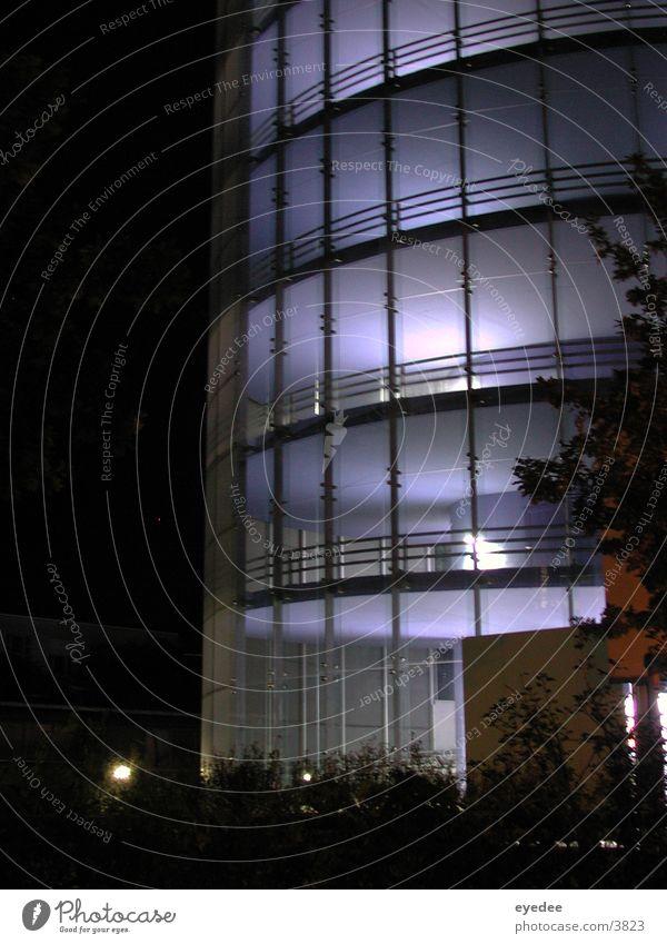 parkhaus Parkhaus Nacht Architektur blau