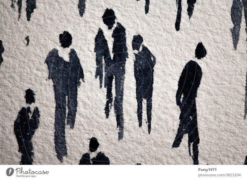 Abstrakte menschliche Silhouetten in Aquarell gemalt / Wen die Muse küsst... Menschen malen zeichnen Kunst Freizeit & Hobby Kreativität Wasserfarbe abstrakt