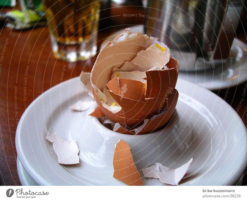 Kaputt Frühstück Hühnerei Eierschale Ernährung Schalen & Schüsseln