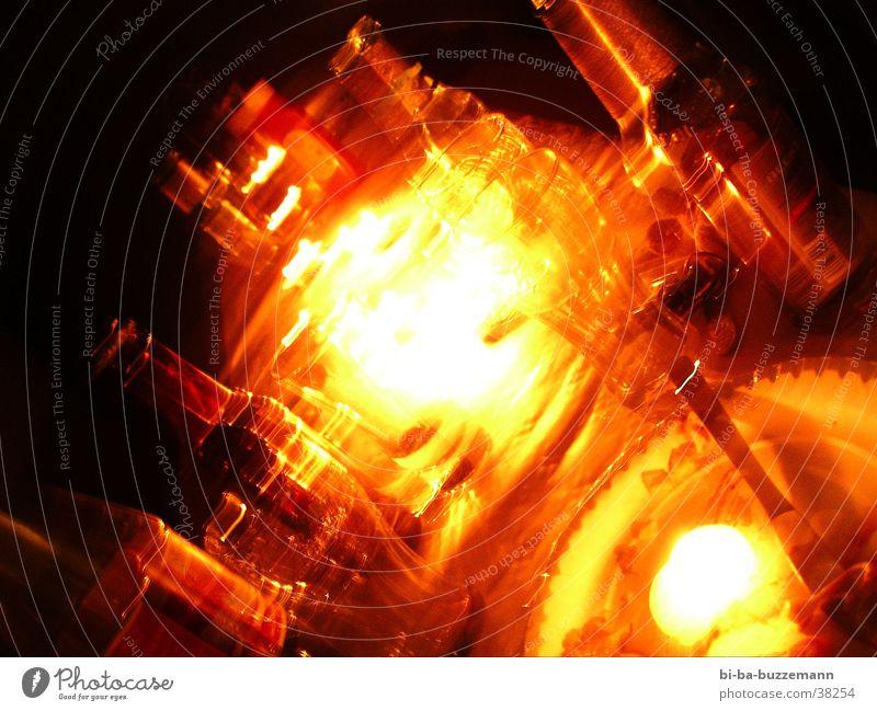 Sonne im Herzen rot dunkel Wärme Feste & Feiern orange Glas Kerze Bier Flasche Bierflasche