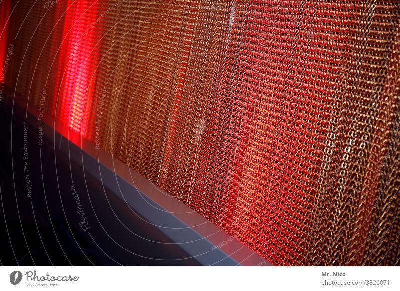Eiserner Vorhang Licht Raum Sichtschutz Dekoration & Verzierung Innenarchitektur rot Club Lounge Stimmung Bar Kunstlicht Coolness retro trendy Siebziger Jahre