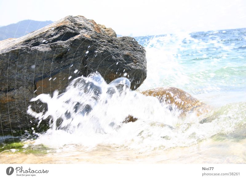 Fels in der Brandung Wellen Meer Erfrischung Ferien & Urlaub & Reisen Felsen Natur