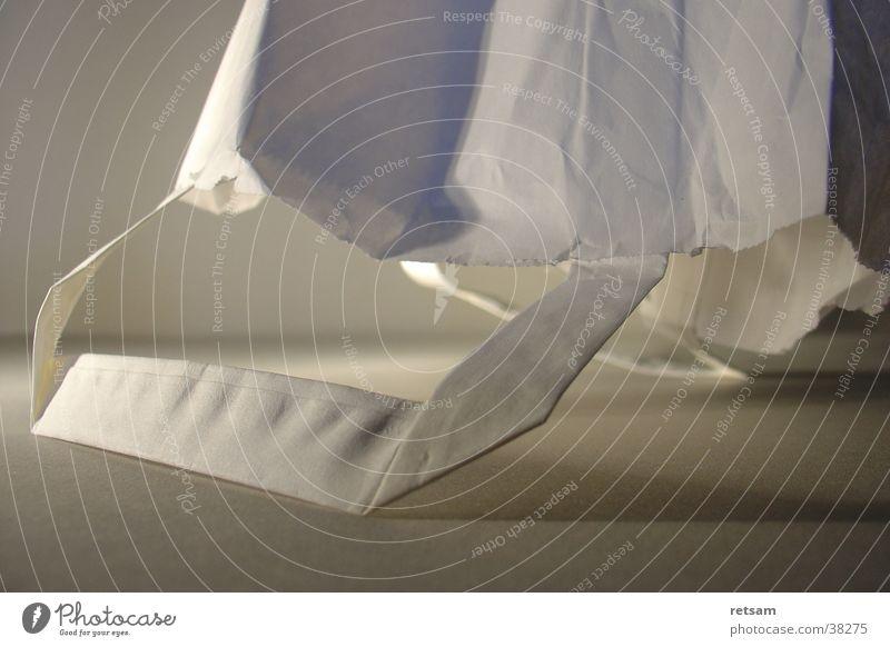 Papiertüte weiß grau Freizeit & Hobby Tasche Tiefenschärfe ökologisch Tüte Umweltschutz Einkaufstasche