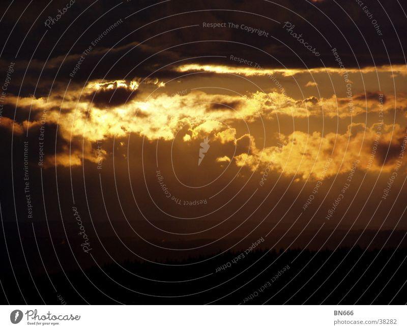 Wolken Sommer Himmel Sonne Gewitter Abend