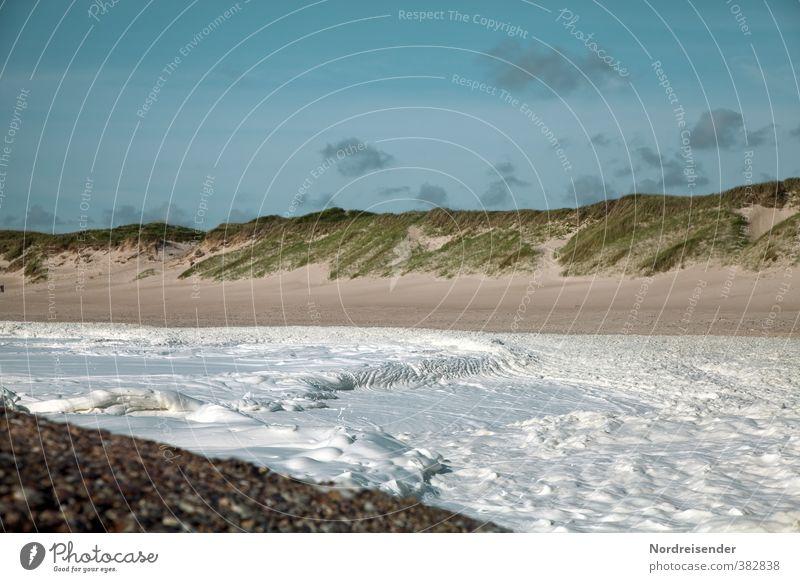 Der süße Brei.... Himmel Ferien & Urlaub & Reisen Sommer Meer Einsamkeit Landschaft Strand Ferne Bewegung Gras Küste Stimmung Wellen wild Schönes Wetter Nordsee