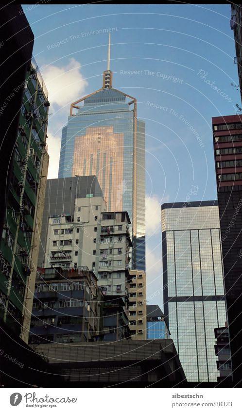 Häuserschlucht Stadt Haus Erfolg Hochhaus China Hongkong