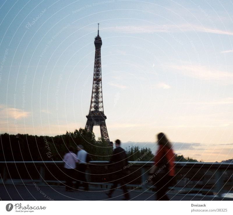 Spaziergang in Paris Stimmung Kunst groß Europa Wahrzeichen Paris Sehenswürdigkeit Symbole & Metaphern Tour d'Eiffel