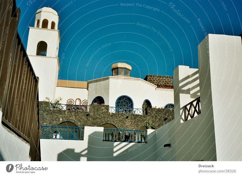 Lanzarote Hotelanlage Himmel Haus Perspektive Europa