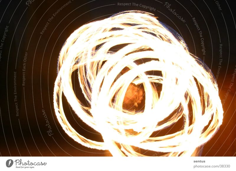Feuerwirbel Nacht Freizeit & Hobby Brand Pois