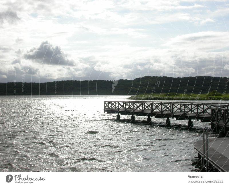 heavenly water Wasser Himmel blau Wolken Freiheit Landschaft Stimmung Wellen nass Brücke rein Klarheit Freundlichkeit Steg positiv
