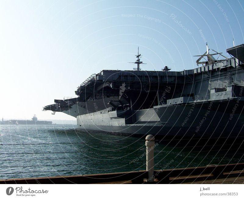 Flugzeugträger See Wasserfahrzeug Horizont Hafen Marine Schifffahrt Kriegsschiffe Kalifornien San Diego County