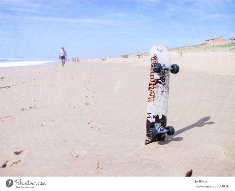 Surfen oder Skaten? Sonne Meer Sommer Strand Sport Sand Skateboarding Frankreich Skateboard Atlantik