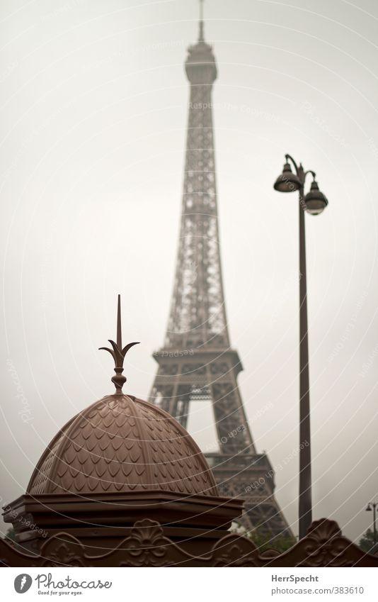 Pariser Morgen Himmel alt Stadt grau braun Perspektive ästhetisch Aussicht historisch Bauwerk Straßenbeleuchtung Denkmal Frankreich Paris Wahrzeichen Stadtzentrum