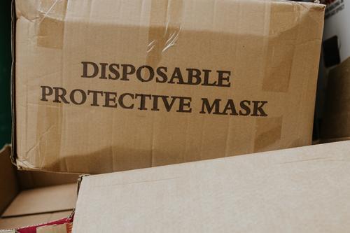 Einweg-Maskenbox Kasten Verkehr Faltschachtel Wirtschaft Karton Verpackung Umzug (Wohnungswechsel) Schachtel einpacken Kiste Paket Papier
