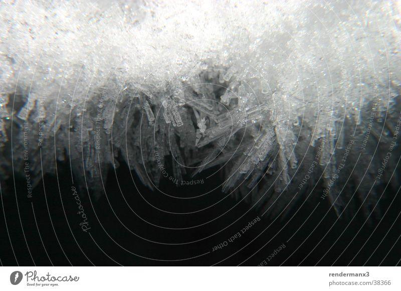 Schneekristall weiß Winter Schnee Kristallstrukturen Nahaufnahme