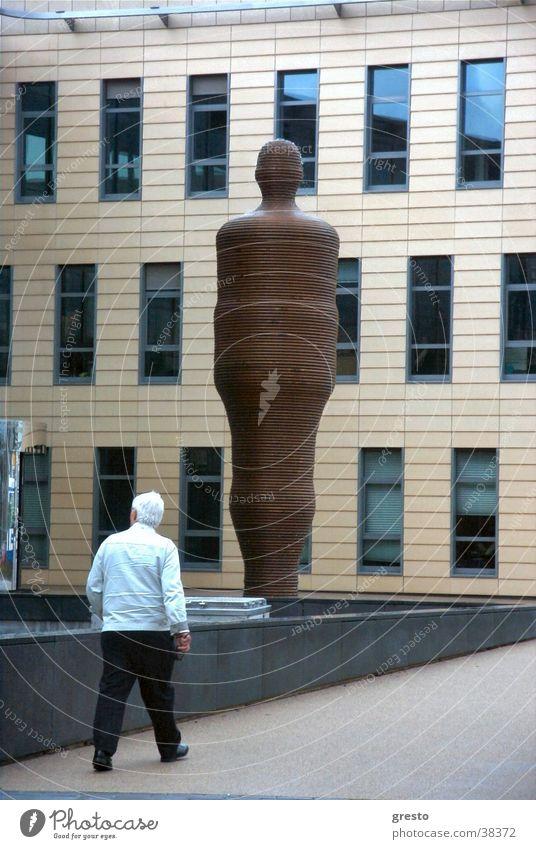 Lauf der Zeit Kraft Architektur Glas Fassade modern Brunnen Skulptur Amsterdam Niederlande