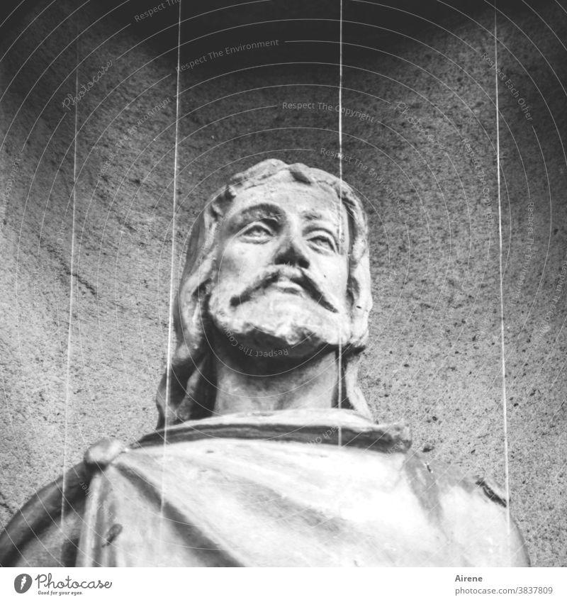 Noli me tangere Christus Jesus Heiland Statue Steinfigur Jesusstatue Christentum Kirche Figur Porträt Kopf Bibel Gottessohn Schmuck Kunst Kirchenkunst Nische