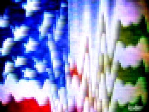 Sterne und Schlieren Fahne Streifen Amerika obskur USA