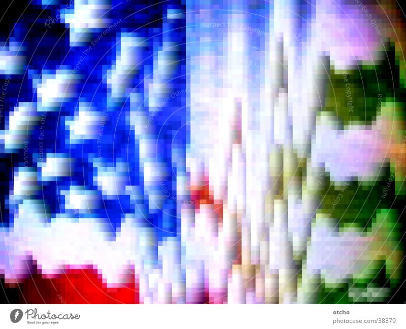 Sterne und Schlieren Streifen USA Fahne Amerika obskur