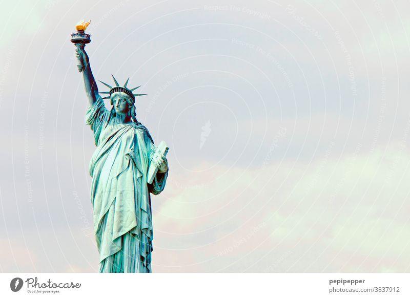Freiheitsstatue, New York USA Amerika New York City Wahrzeichen Sehenswürdigkeit Denkmal Sightseeing Ferien & Urlaub & Reisen Städtereise Tourismus