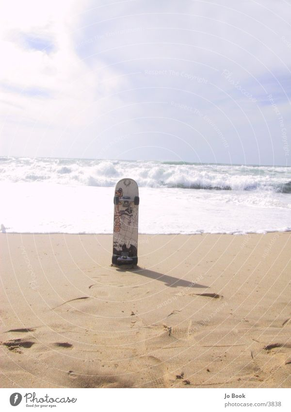 Urban Surfing Meer Strand Sand Wellen Skateboarding Skateboard Frankreich Rolle Fototechnik