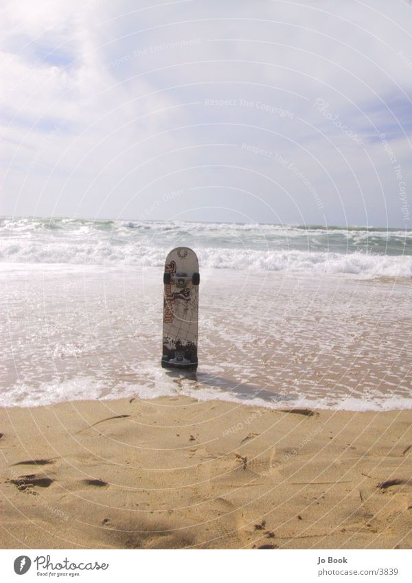 Urban Surfing Skateboarding Strand Meer Frankreich Wellen Fototechnik Board Rolle Sand