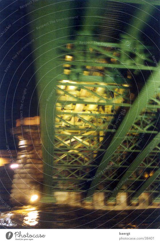 Seine-Brücke in Paris bei Nacht II Wasser Brücke Paris Nacht Hochwasser Seine