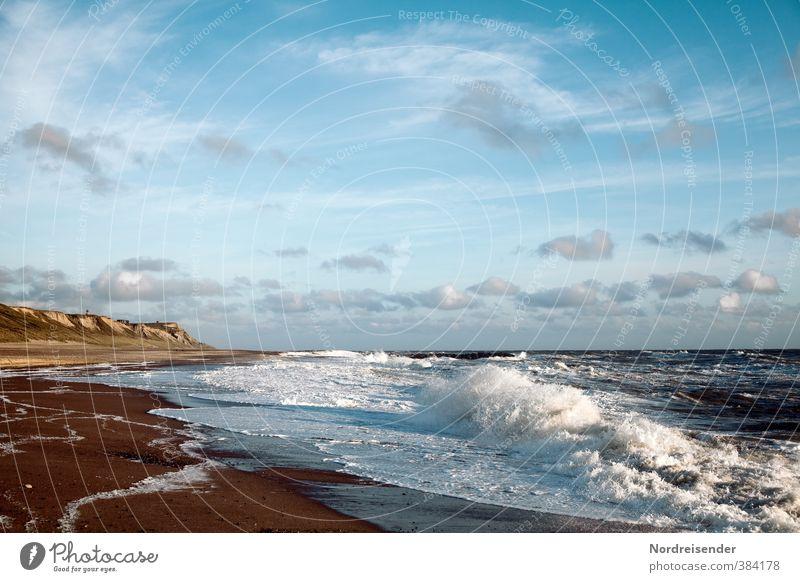 Dänemarks Westküste Himmel Ferien & Urlaub & Reisen Sommer Meer Erholung Landschaft Wolken Strand Ferne Leben Küste Freiheit Stimmung Wellen Wind Klima