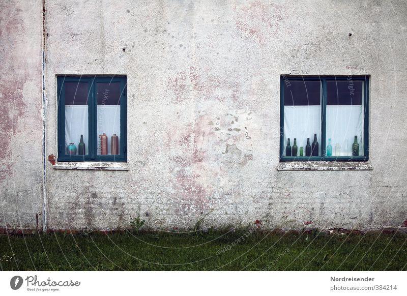 Basic Stadt ruhig Haus dunkel Fenster Wand Architektur Stil Gebäude Lifestyle Mauer Fassade Design Häusliches Leben Dekoration & Verzierung trist