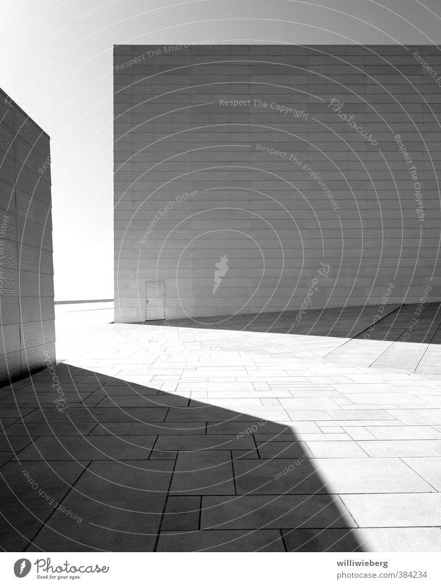 Struktur in schwarzweiß Oslo Norwegen Europa Bauwerk Gebäude Architektur Opernhaus Mauer Wand Fassade Terrasse Sehenswürdigkeit Wahrzeichen Coolness hell