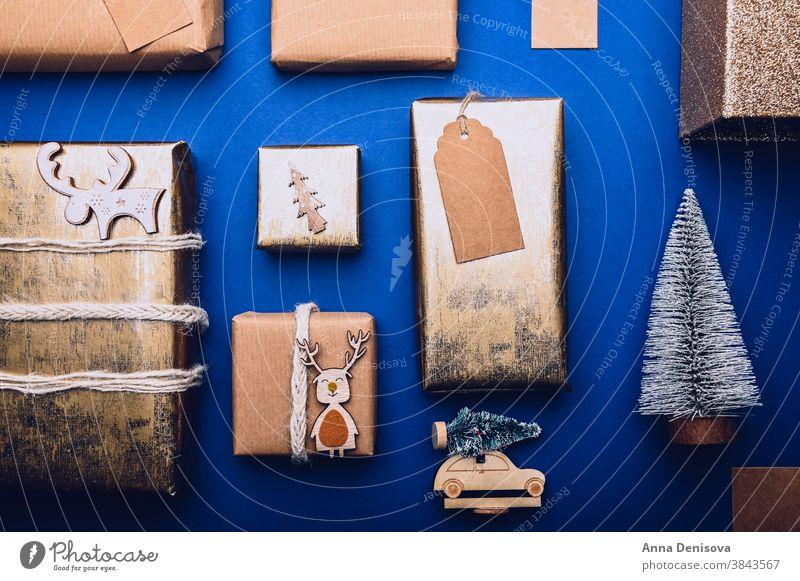 Geschenkverpackungsverfahren, Vorbereitung für Weihnachten Verpackung Neujahr Feiertag Kasten präsentieren Überraschung handgefertigt kreativ