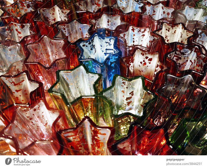 Weihnachten, Sterne aus Glas für Teelichter Weihnachten & Advent Weihnachtsdekoration Stern (Symbol) Dekoration & Verzierung Weihnachtsstern Feste & Feiern
