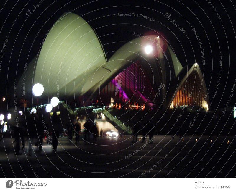 sydney opera dunkel Beleuchtung Architektur Australien Oper Sydney
