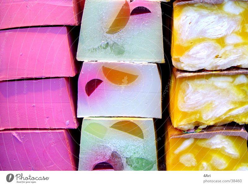 Farbenfroh Seife rosa Makroaufnahme Nahaufnahme Dekoration & Verzierung Lush Detailaufnahme