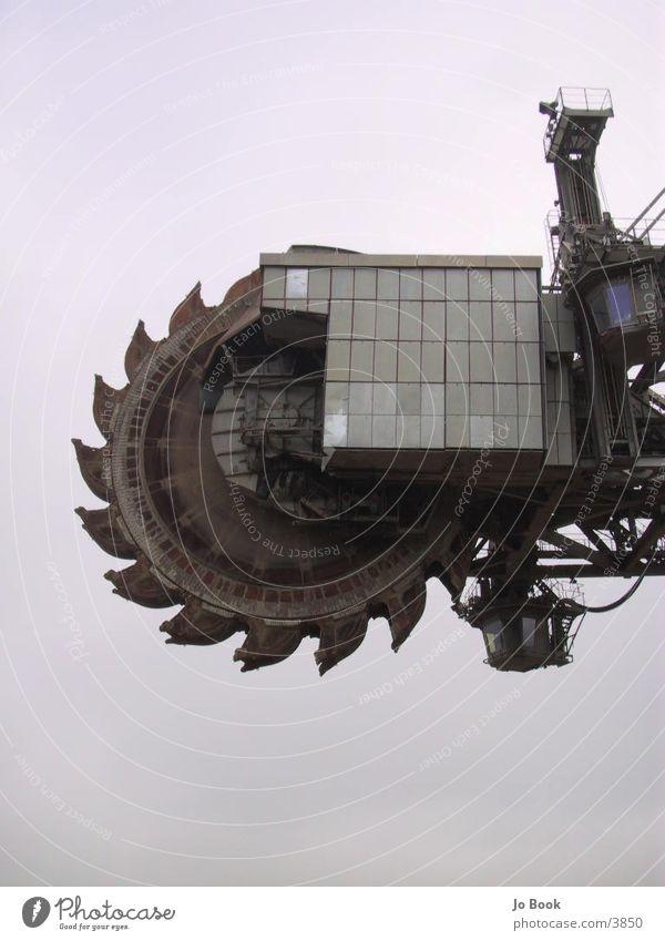 Braunkohle Schaufel1 Bagger Braunkohlenbagger groß Elektrisches Gerät Technik & Technologie fat Schaufelrad
