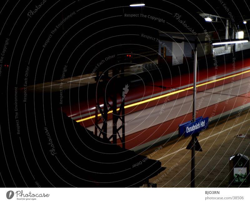 durchzug Eisenbahn Durchreise Bahnsteig Gleise Verkehr Bahnhof Ferien & Urlaub & Reisen Landkreis Osnabrück