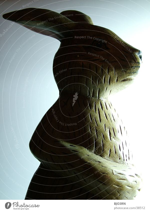 Osterhase mal anders #1 Nase Ohr Kitsch Statue Hase & Kaninchen Ostern Löffel Osterhase Krimskrams