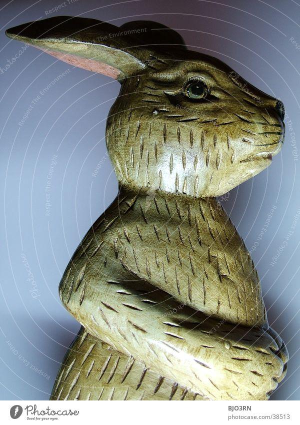 Osterhase mal anders #2 Nase Ohr Kitsch Statue Hase & Kaninchen Ostern Löffel Osterhase Krimskrams