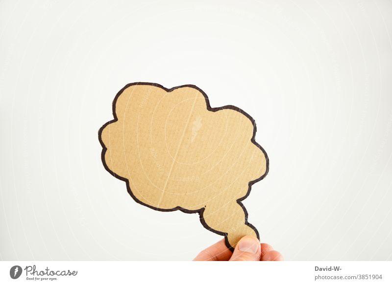 Gedankenblase - sich Gedanken machen denken nachdenklich Luftblase Platzhalter nachdenken in gedanken verloren sein