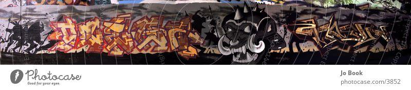 Graffiti Panorama Stil groß Panorama (Bildformat) Kunst Fototechnik