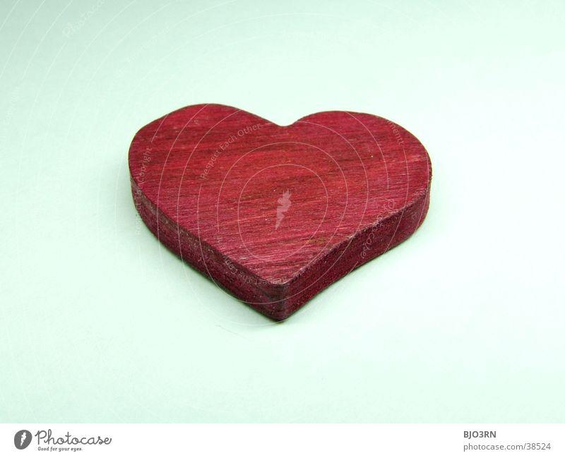 Herz #5 weiß rot Liebe