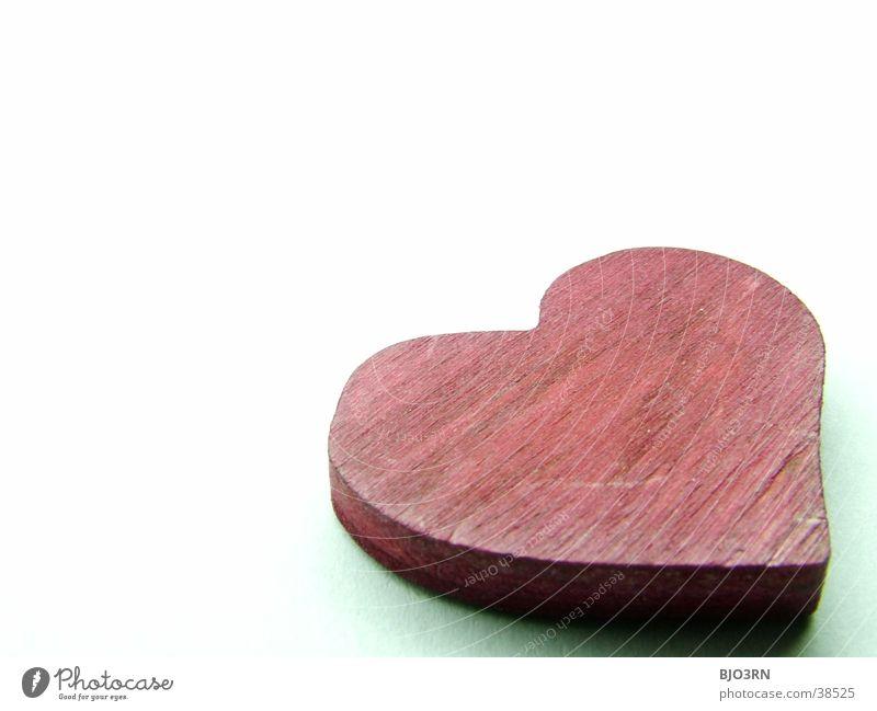 Herz #1 rot weiß Makroaufnahme Liebe weis Valentinstag