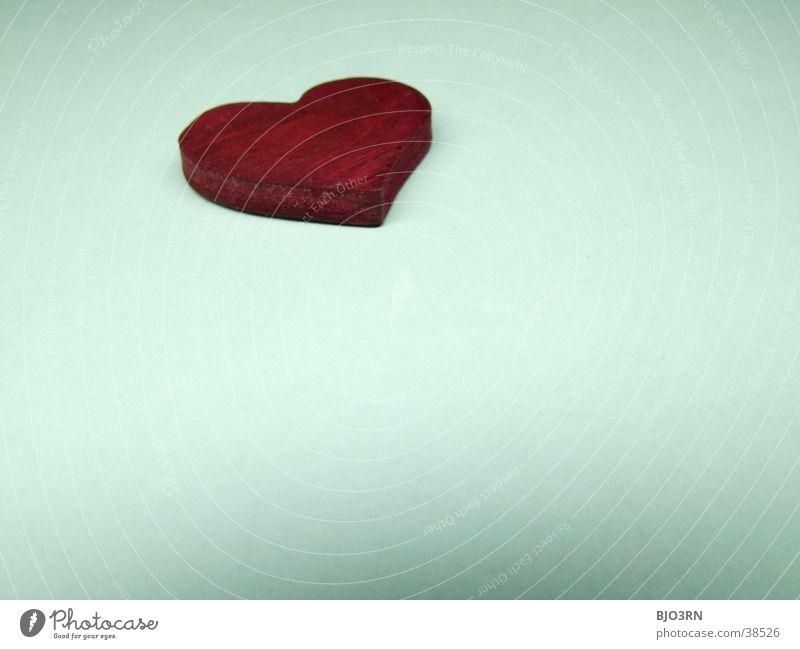 Herz #4 rot weiß Makroaufnahme Liebe weis