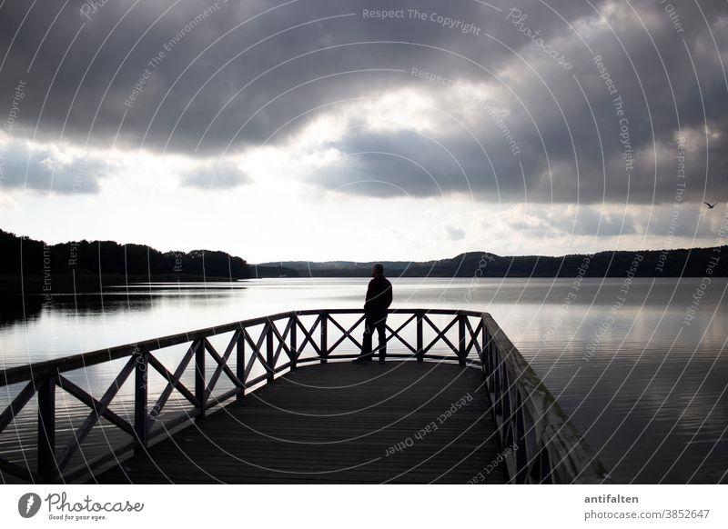 Abenddämmerung Rügen Schmachter See Ferien & Urlaub & Reisen Wasser Himmel Landschaft Farbfoto Seeufer Küste Erholung Tourismus ruhig Außenaufnahme Natur Wolken