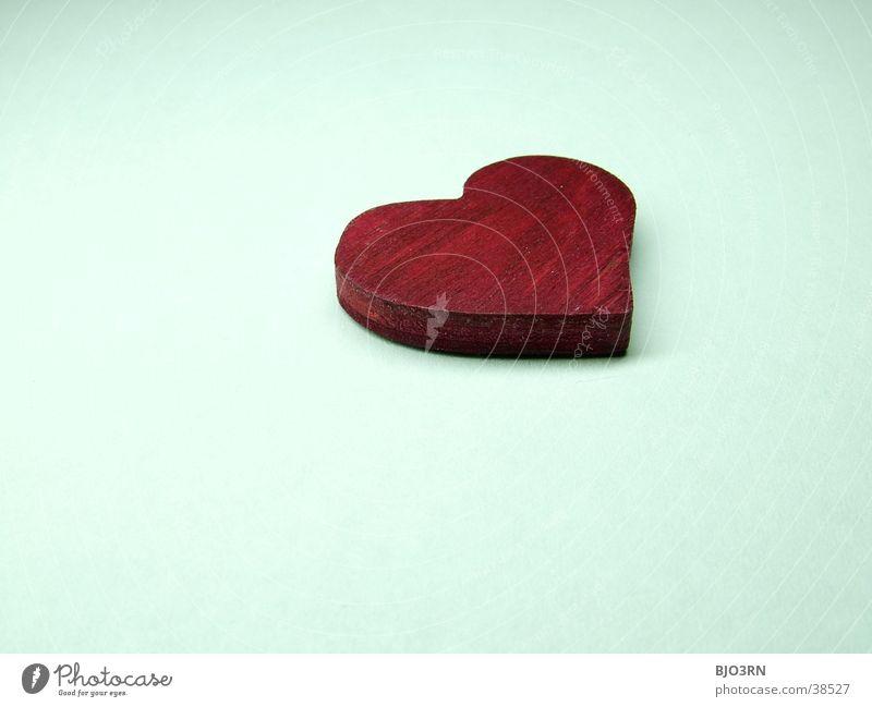 Herz #3 weiß rot Liebe