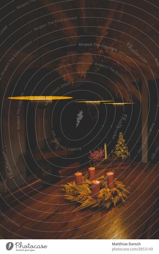 Weihnachtsdekoration Weihnachten & Advent Dekoration & Verzierung dekorieren Winter Adventskranz adventszeit Kerze