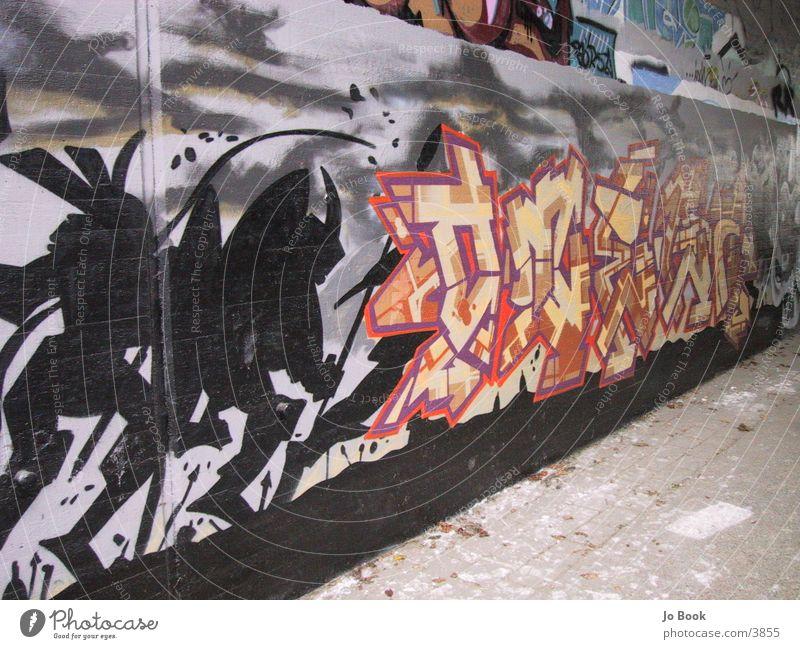 Die Krieger Stil Silhouette Fototechnik Graffity Schriftzeichen Profil